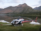 Helicopter in Northwest Territories